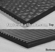 hammer top cow rubber mat /Rolled rubber cow mats with hammer top surface /cloth insertion rubber cow mats