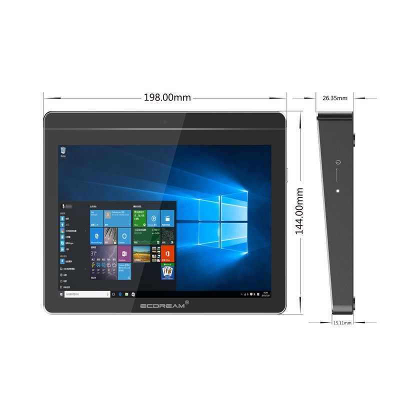 "Battery Powered Intel Apollo Lake 4GB/8GB RAM 64GB/128GB EMMC 8"" LCD Touch Screen Windows 10 MINI Tablet PC"