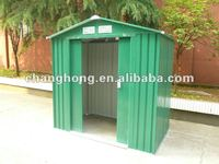 6x4ft sturdy metal shed with sliding double door