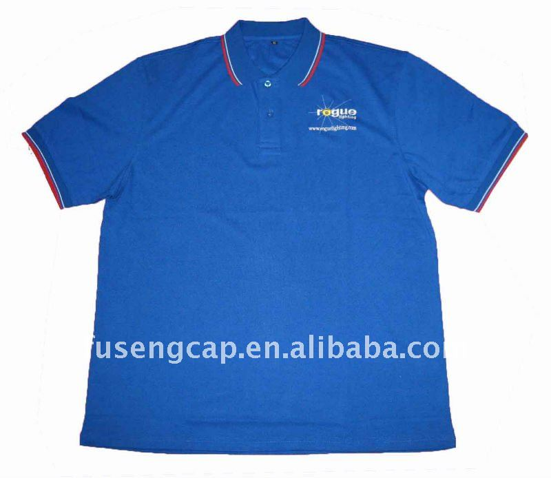 Promotion 100% cotton blue t shirt for men