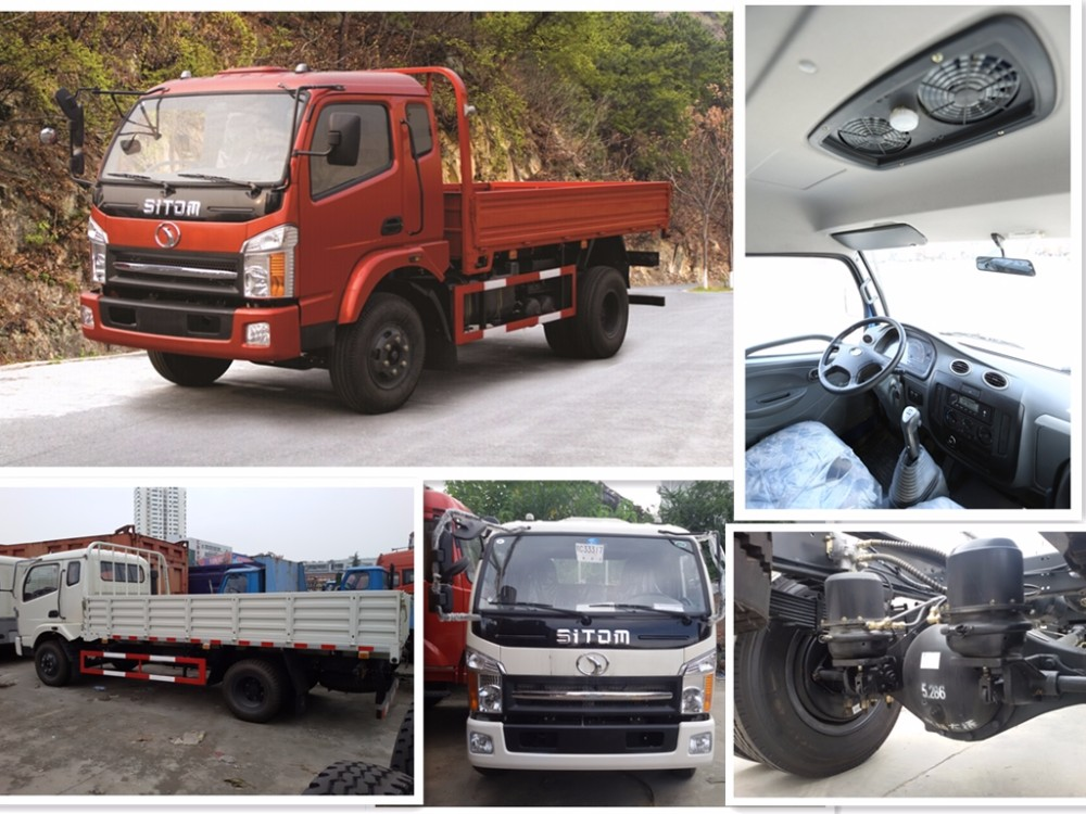 Hot sale sitom 6 wheel 6ton mini cargo trucks in china