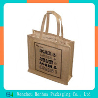 2016 new Eco-friendly Natural jute material promotional cheap jute bag