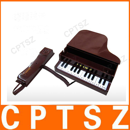 Elegant Classical Piano Shape Wire Corded Telephone for promotion