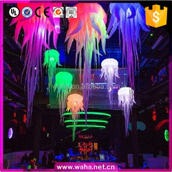 Bouncing inflatable decoration jellyfish with LED light/ jellyfish for party/ night bar/ event