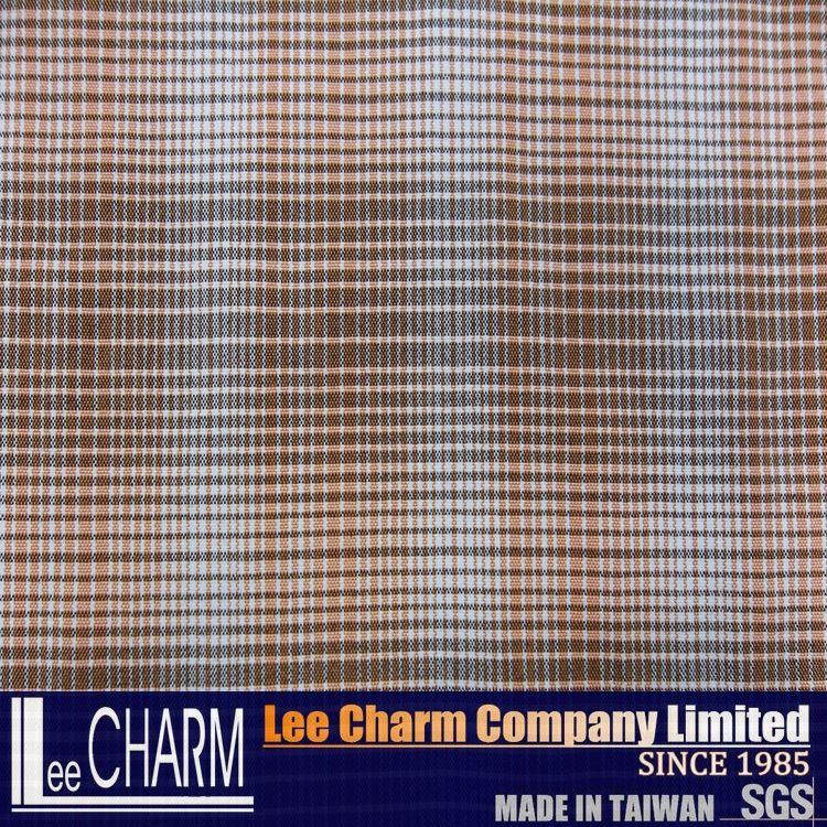 LCL1539E Made in Taiwan 100 Nylon Quality Men's Plaid T Shirt Fabric
