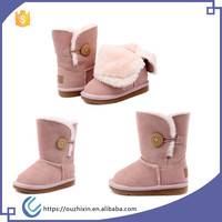 new arrival baby snow boots winter warm plain baby shoes