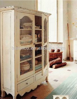 French Provincial Living Room Decorative Cabinet