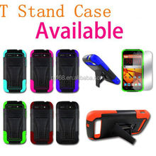 Fashion design hard cases hybrid combo T stand case for Alcatel One Touch Fierce D386 7024W