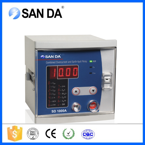 SD1000A combinate earth fault relays and overcurrent protection