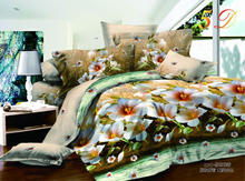 3D reactive print 80gsm bedsheet designs flower on the country road