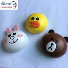 3D yellow duck white rabbit bear eyekan Contact Lens mate Case A-7006