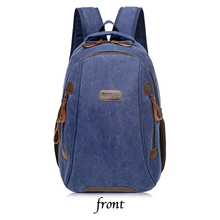 New Canvas Backpack men's computer bag trend canvas bag female leisure large capacity travel bag