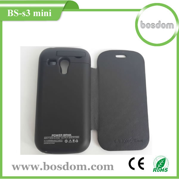 Battery charger case for samsung galaxy s3 mini 2500MAH