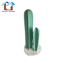 hotsale wooden cactus shape home decoration pieces
