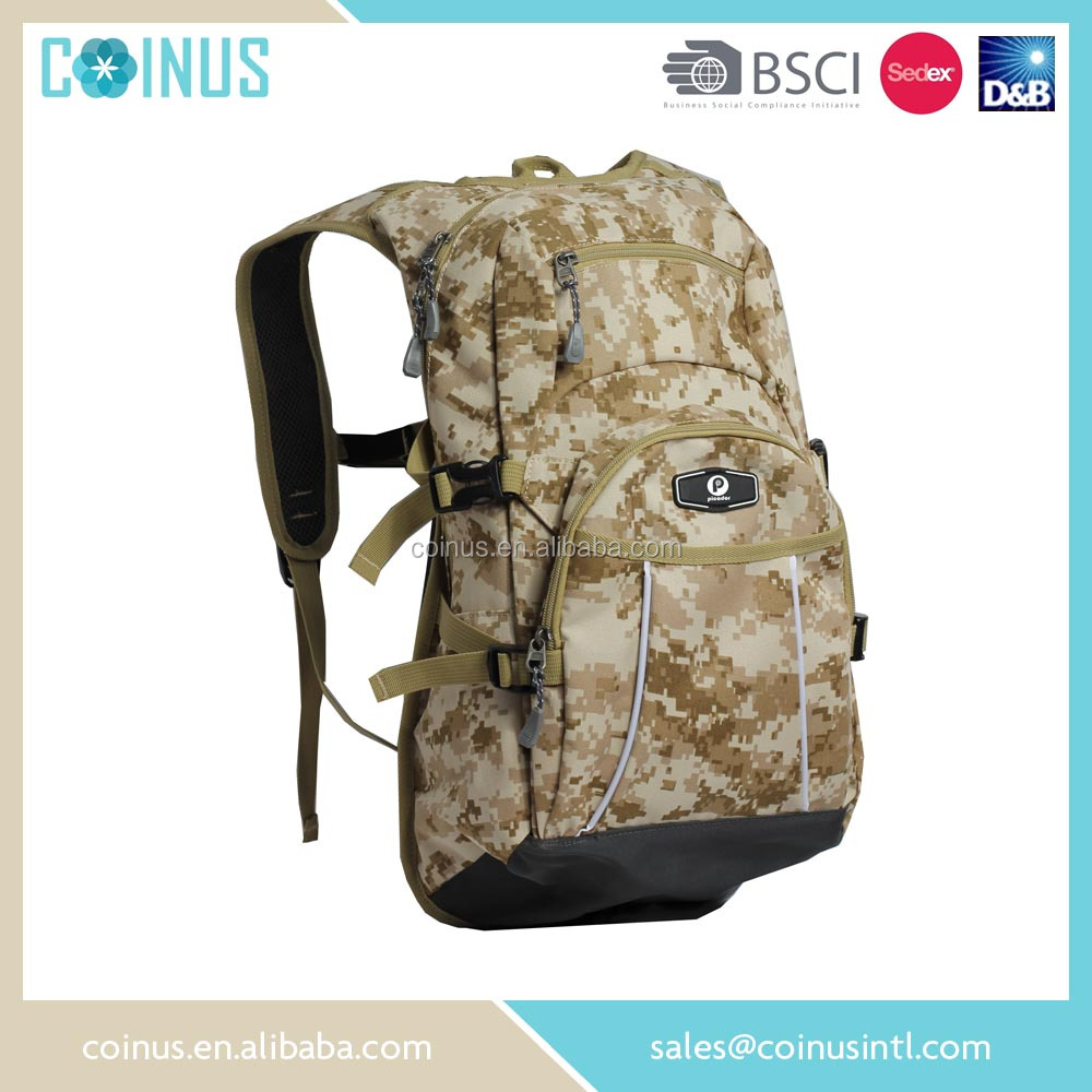 China factory camel mountain backpack with water bag