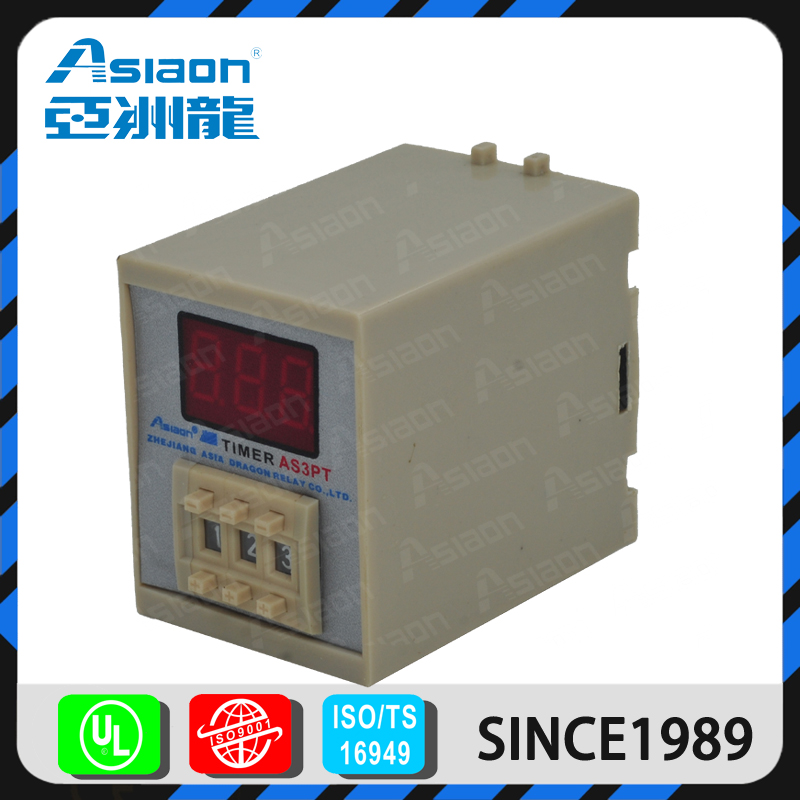 ASIAON Yueqing Factory Wholesale Thermal Overload 12v 220vac Time Relay Timer Relay 3A