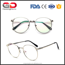 Women Men Retro Metal Glasses Frame Clear Lens Glasses Nerd Spectacles Eyeglasses frame big Optical Frame wholesale
