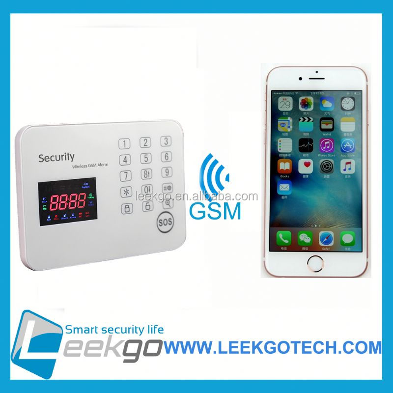LEEKGO Hot Sales High Quality wifi gsm burglar alarm system ip based cloud
