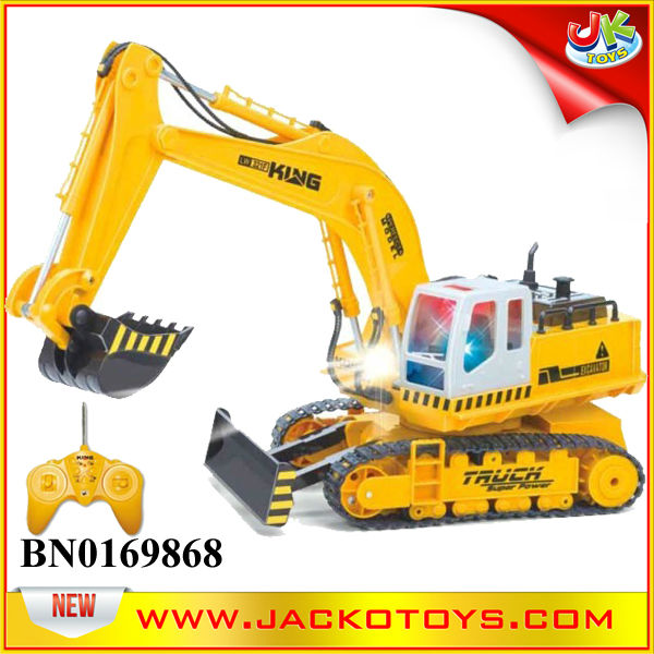 Lighting and Musical amphibious R C bulldozer/excavator