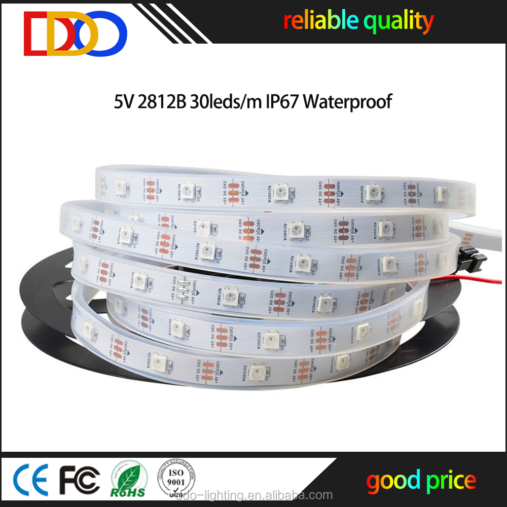 Factory Wholesale 5v 5050 smd led lumen rgb led strip ws2812b with very good price