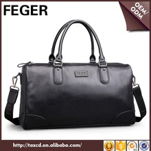 Larger Capacity Waterproof Pu Leather Travel Duffle Bag Men Weekend Bag
