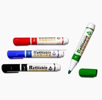 CMYK printed office whiteboard refillable dry erase pen
