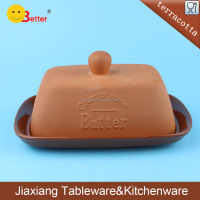 wholesale terracotta butter dish with lid