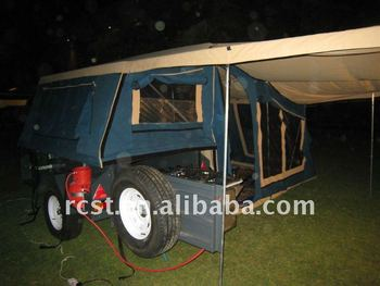 heavy duty steel camper trailer and off road family camping trailer
