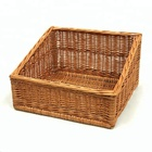High quality wicker sloped bread basket, wicker display basket