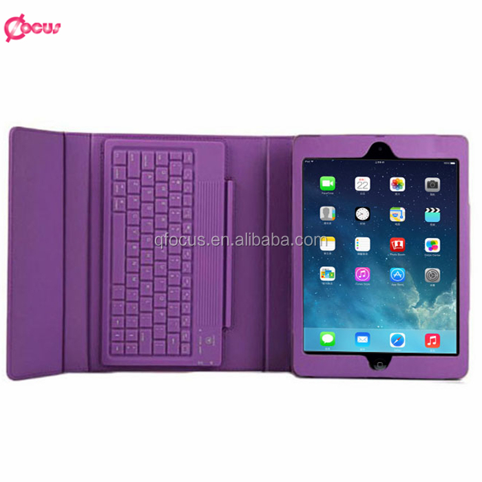 Leather Bluetooth Wireless Keyboard Case Cover for Apple for iPad air/air2, Bluetooth Wireless Keyboard for ipad 5 6