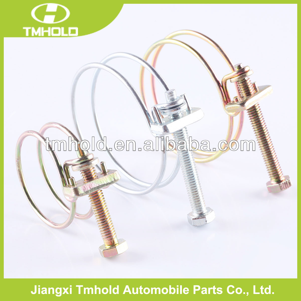 small spring rope double wires cable clamps for auto pipes
