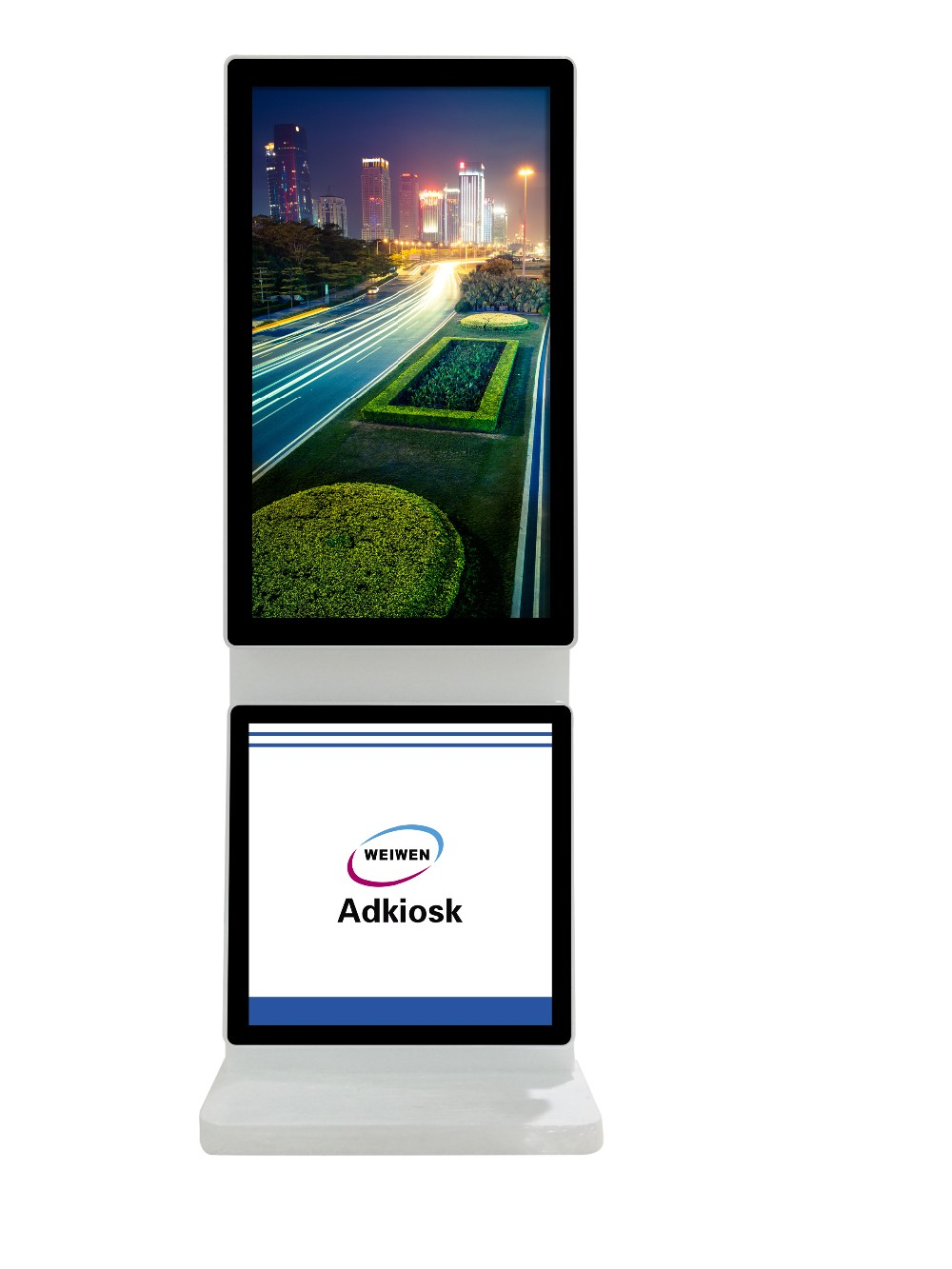 2016 Hot! Popular 43 inch indoor high resolution shopping mall floor stand digital signage