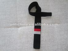 Knitted wool tie black and red color men necktie