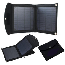 12W Foldable solar power bank automatical re-start function solar panel charger 5 V rainproof powerbank
