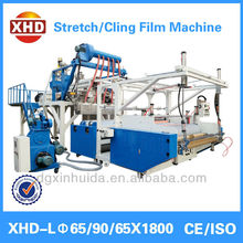 3 layers co-extrusion durable high speed stretch film machine