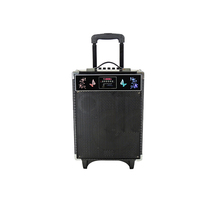 2017 activated creative subwoofer wireless trolley speaker with am fm portable radio,mini 8 inch audio mixer download speaker