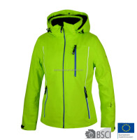 2016 Women Colourful Insulated Waterproof Snowboard Jacket Green