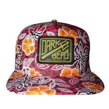 2014 5 panel most popular hawaii flower print good embroidery badge good shape small order is acceptable snapback