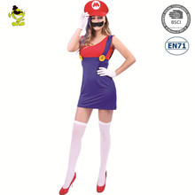 Carnival girls fancy dress costume Party sexy plumber bros woman costume