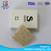 Wholesale disposable hotel soap with customized logo