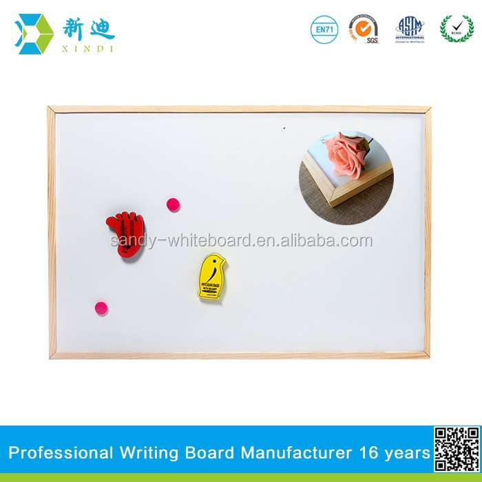 Lanxi xindi magnetic promotional whiteboard and drawing board with wooden frame