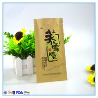 cheapest recycled zip lock kraft paper bag for food wholesale