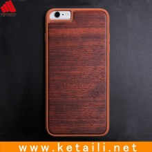 Wholesale tpu mobile phone case for iphone 6 with wood on backside