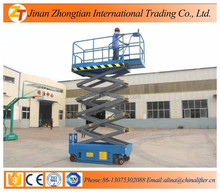 20% discount 18m CE TUV Approved Electro-hydraulic self-propelled scissor lift/Mobile hydraulic lifting platform/ DC 24V Powered