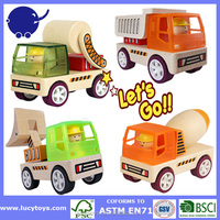 kids wooden toy construction Vehicle Set wooden toy trucks and cars