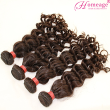 Homeage 100% virgin remy curly wholesale brazilian hair