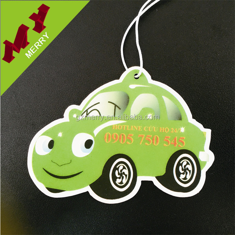 Various scents auto paper air freshener / custom car air freshener wholesale
