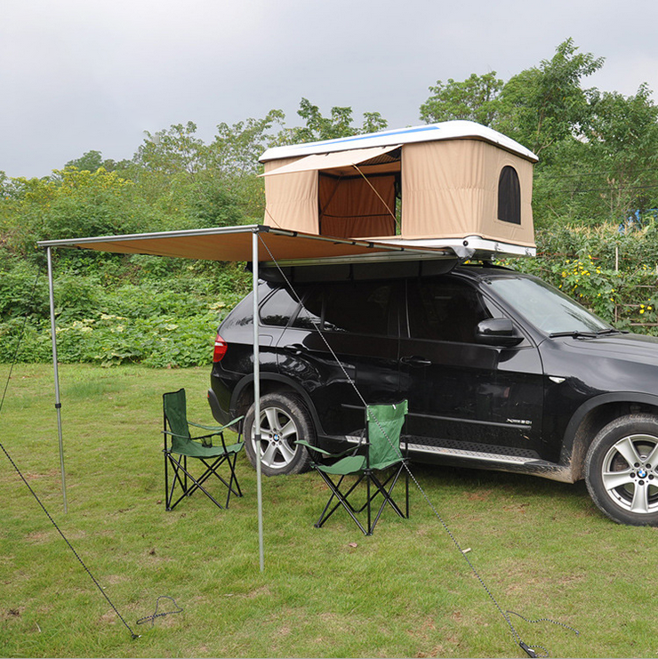 Glass fiber reinforced plastic shell hydraulic automatic car roof tent tents