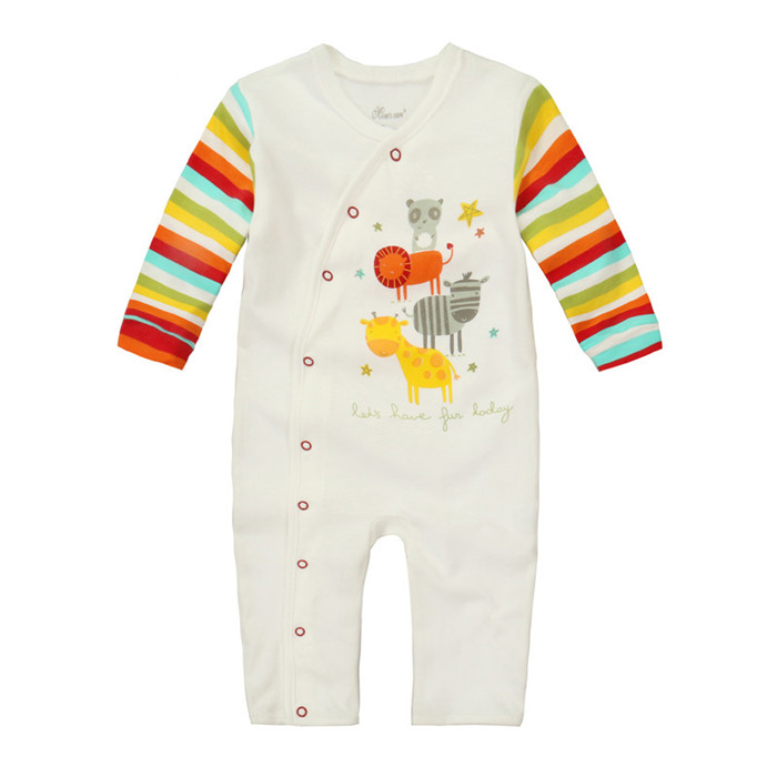 Factory price long sleeve cotton plain baby bulk infant rompers