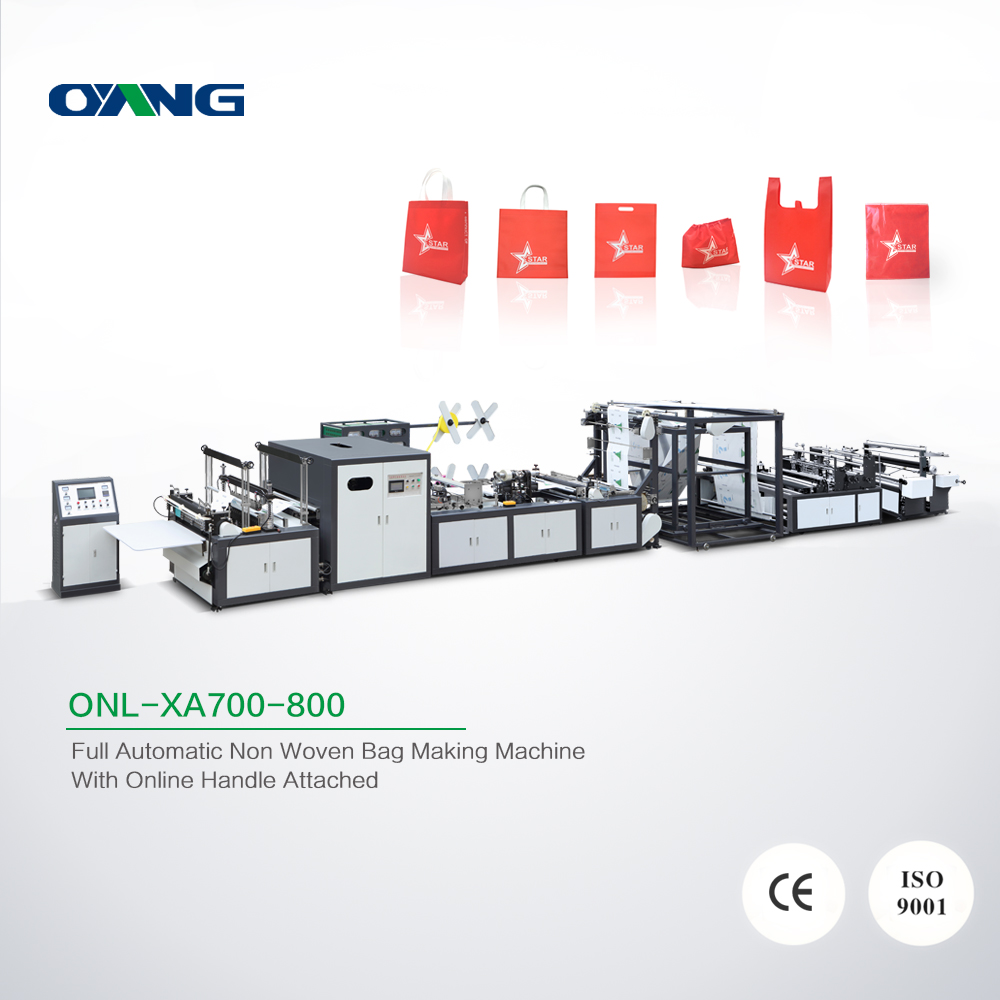 Latest and popular automatic non woven bag cutting and sewing making machine in Wenzhou factory